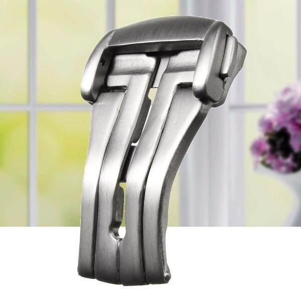 Nơi bán 18mm thép triển khai nút khóa gập Đồng hồ đeo tay dây đeo Clasp cho-Chải Bạc