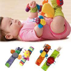 1Pair Baby Kids Soft Animal Hand Wrist Bells Rattles Cartoon Cute Handbells Malaysia