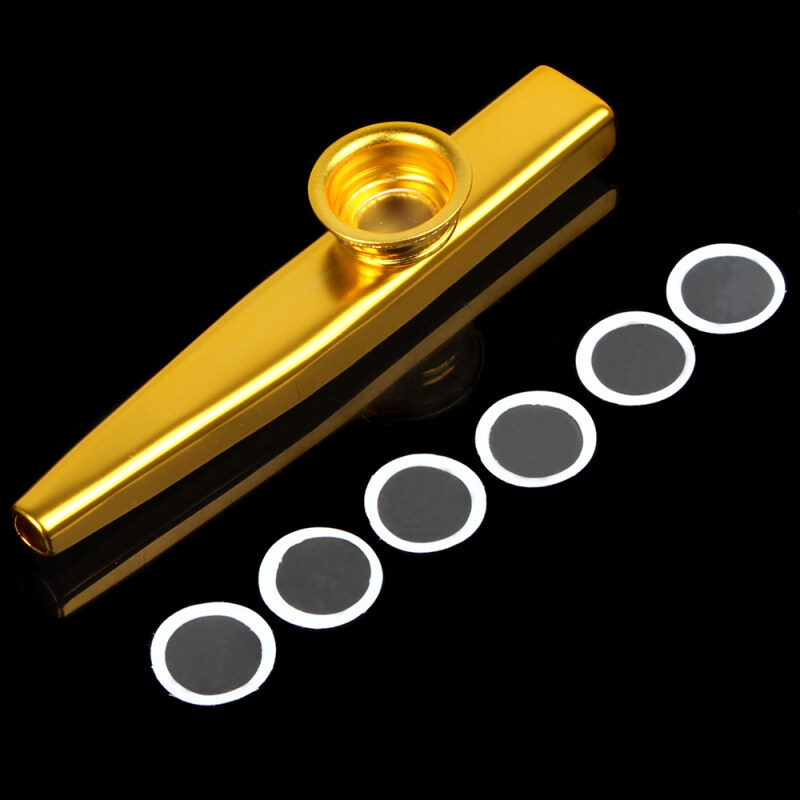 1pcs Metal Kazoo with Flute Diaphragm Musical Instrument (Gold) Malaysia