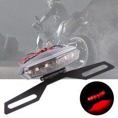 1pc Motorcycle Dirt Bike Led Tail Brake Light License Plate Mount Holder Bracket By Qilu.