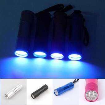 1 ชิ้น 12 - LED UV ไฟแบล็คไลท์ปัสสาวะสัตว์เลี้ยงเครื่องตรวจจับคราบสี: สีดำ-