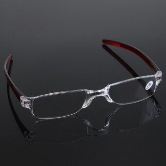 1pcs Red Rimless Reading glasses Folded Frameless Glass 1.0