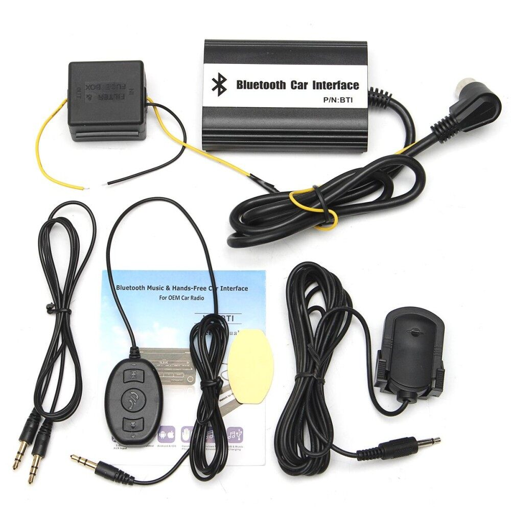 1Set Auto Bluetooth Ki Hands-Free Stereo Aux Adapter Interface For Volvo Hu
