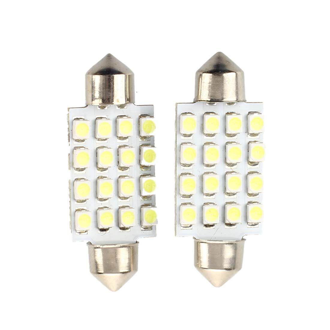 2 PCS Car Lamp Soffitte Indoor 42mm 16 SMD LED White Sofitte - intlIDR32000. Rp