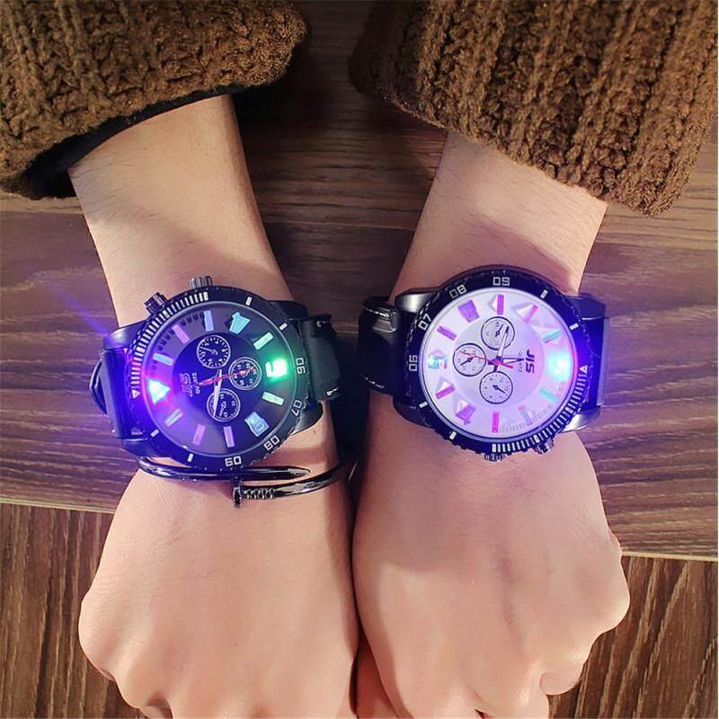 2 Pcs Fashion Korean Style Couple Watches Womens Unisex Watches LED Quartz Casual Dress Wrist Watch Malaysia