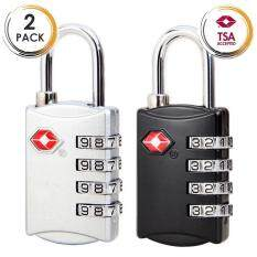 2 Pack B TSA Approved Luggage Loc2 Pack Toolbox Bag Combination Zipper Fixed Locks 3 Digit for Travel Backpack Customs/…