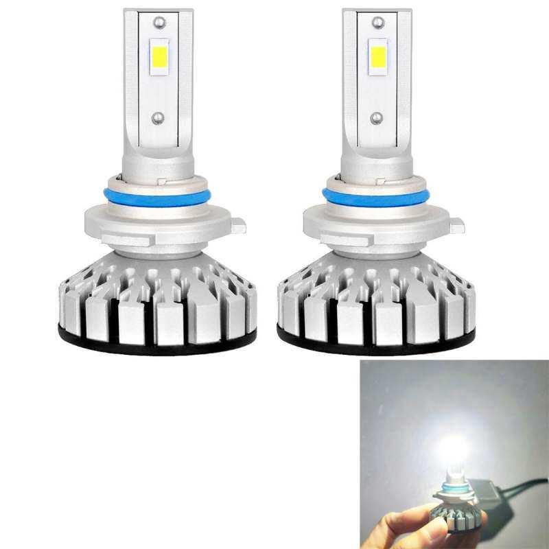 2 Pcs R8 9006/HB4 30 W 3500LM 6000 K IP65 Tahan Air Mobil LED Lampu Depan dengan 2 Lampu Tongkol, DC 9-36 V (Lampu Putih)
