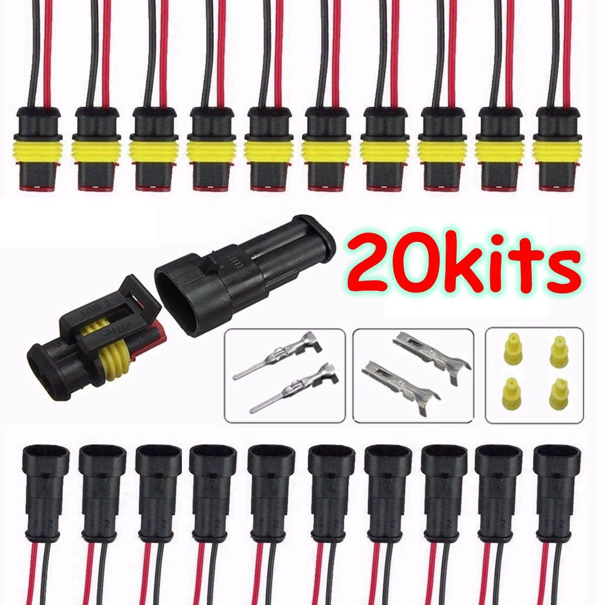 Car Sockets For Sale Pigtail Online Brands Prices Reviews Vw Wiring Harness Terminals 20 Sets Part 2 Pin Way Sealed Waterproof Electrical Wire Auto Connector Plug Set