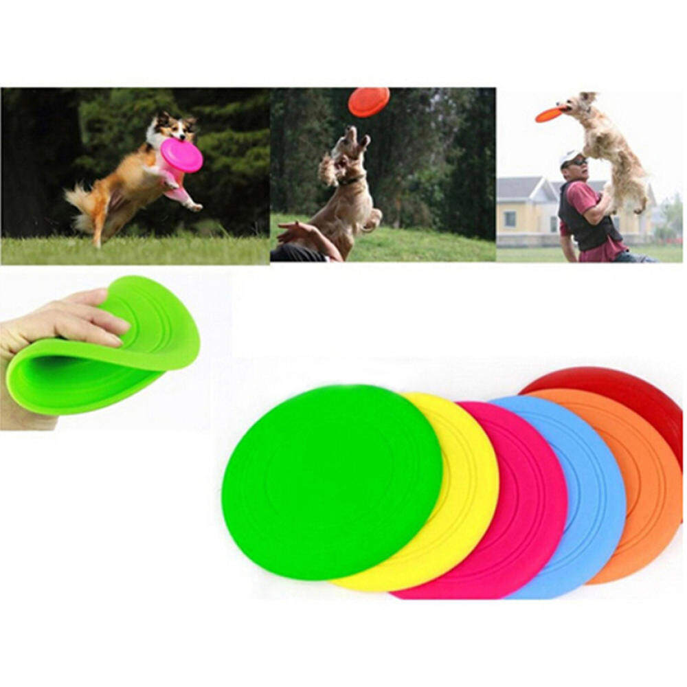 2015 New Design 1PC Dog Frisbee Flying Disc Tooth Resistant OutdoorDog Training Fetch Toys tốt