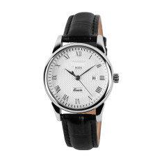 2018 Best Quality 9058 Couples Quartz Wristwatches Fashion Luxury Brand Genuine Leather Strap Business Watch(silver) Malaysia