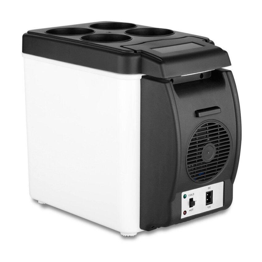 2016 Mobil Mini Kulkas Portabel 12 V 6L Otomatis Perjalanan Refrigeratorquality ABS Multi Fungsi Pendingin Rumah Pembeku Lebih Hangat Kotak (Putih) -Internasional