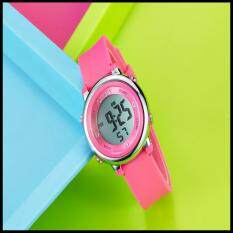 2016 OHSEN Brand Digital LCD Kids Girls Fashion Wristwatch Cute Girl Rubber Strap 50M Waterproof Child