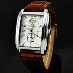 2017 Buyers Rectangular Dial Leather Strap Business Mens Automatic Mechanical Watches Malaysia