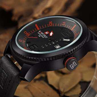 แฟชั่น Casual ธุรกิจ NAVIFORCE นาฬิกาสำหรับผู้ชายนาฬิกาควอตซ์นาฬิกาสปอร์ตผู้ชายหนังนาฬิกาทหาร Relogio Masculino-