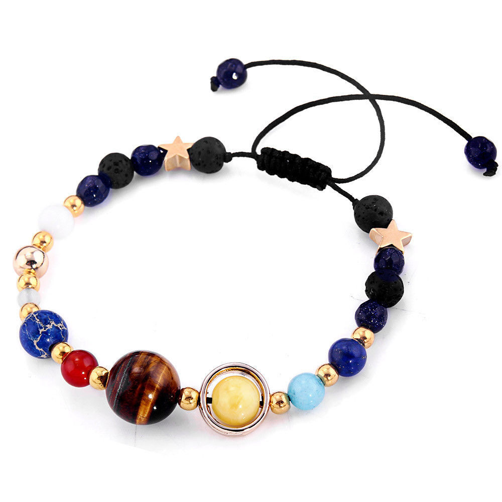 Who Sells 2017 Fashion New Bracelet Galaxy Solar System Eight Planets Theme Natural Stone Beaded Gift Charm Jewelry Intl The Cheapest