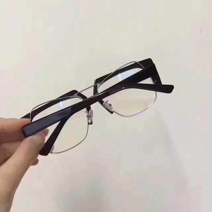 772ca77d1f 2017 New ACETATE OPTICAL GLASSES man Sunglasses for Jinnnn AERO  Eyeware-Black frame Transparent lenses