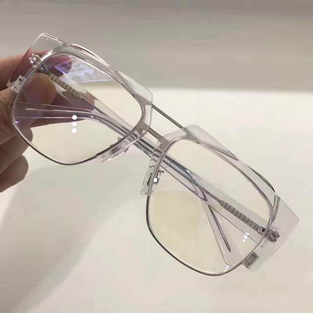 a83f469d15 2017 New ACETATE OPTICAL GLASSES man Sunglasses for Jinnnn AERO  Eyeware-White frame Transparent lenses