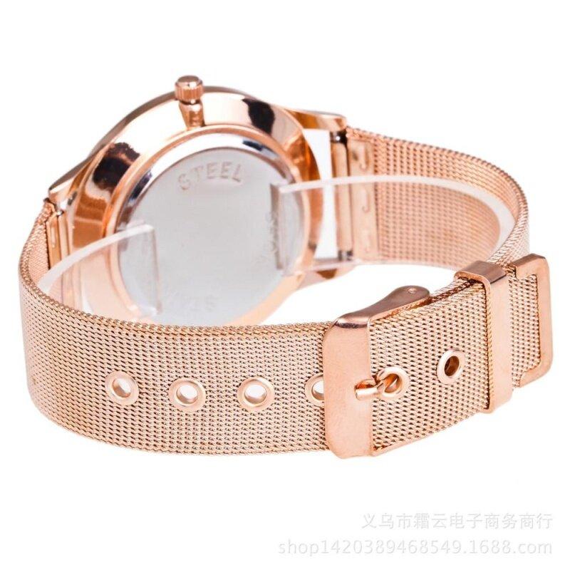 2017 New Fashion Female Clocks Women Luxury Quartz Watch Rose Gold Watch C Malaysia