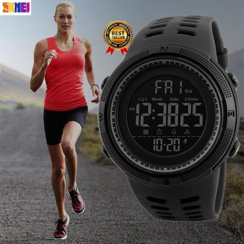 2017 Baru Populer SKMEI Wanita Pria Olahraga Jam Tangan Countdown Doubletime Jam Tangan Alarm Chrono Digital Jam Tangan 50 M Tahan Udara Relogio Masculino Skmei 1251 -Internasional