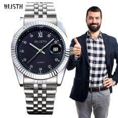 2017 Newest Hot Sales Brand WLISTH High Quality  Men Gifts Watch and Box Waterproof Stainless Steel Quartz Wristwatch Q354 Malaysia