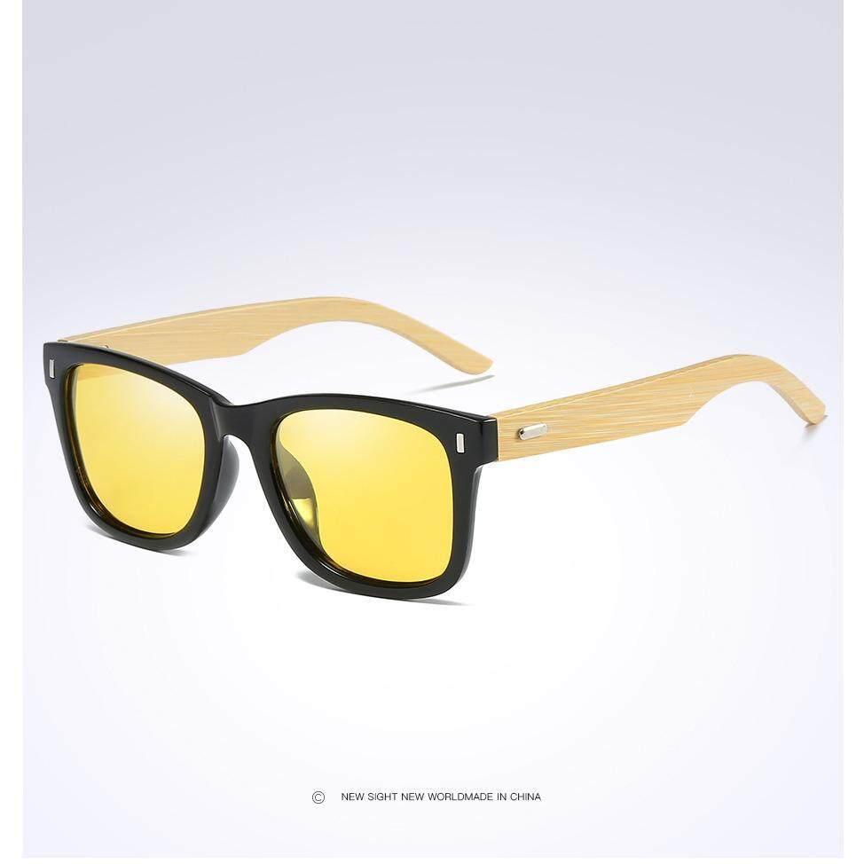 2018 Baru Uniseks Wood Bambu Terpolarisasi Kacamata Hitam Wanita Merek Desain Berjemur Kacamata dengan Kotak 535-Internasional