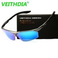VEITHDIA LOGO Aluminum Magnesium Brand Sunglasses Polarized Sun Glasses Mirror Eyewear For Men Male oculos masculino PA6576