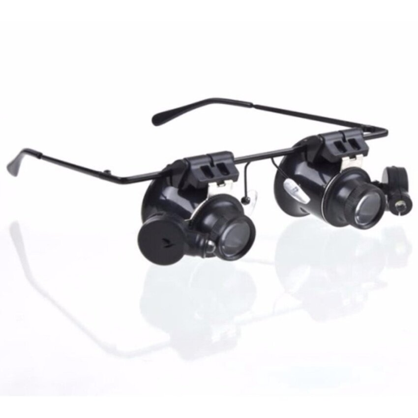 20x Glasses Goggles Magnifier With LED Lamp High-power  EyeRepairMagnifier for iPhone IC Chip BGA CPU Maintenance Tool