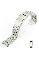 22mm Curved End Solid Stainless Steel Bracelet Watch Band Strap Silver By Pickegg.
