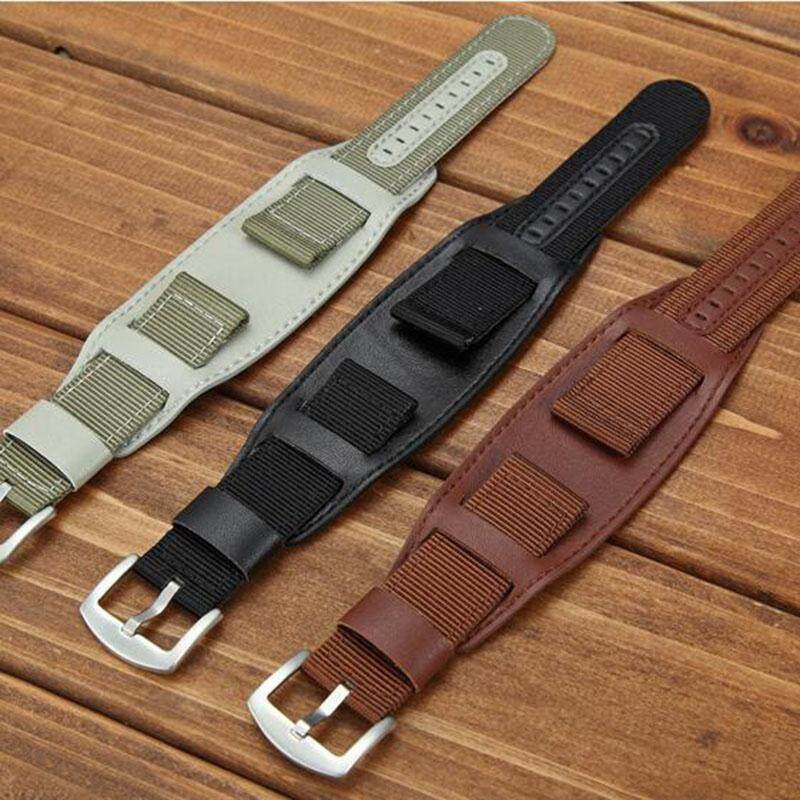 22mm Nylon Watch Band Watchband Leather Strap Watch Accessories Stainless Steel Men Woman High Quality Malaysia