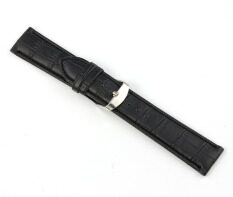 22mm Soft Genuine Leather Strap Steel Buckle Wrist Watch Band Black Malaysia