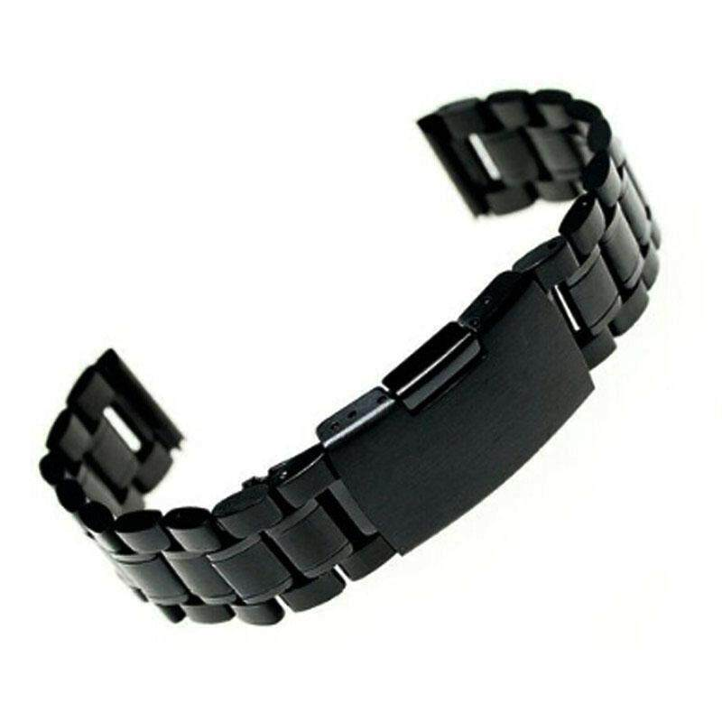 22mm Stainless Steel Bracelet Watch Band Strap Straight End Solid Links Malaysia