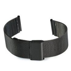 22mm Stainless Steel Mesh Bracelet Watch Band Replacement Strap for Men Women Black Malaysia
