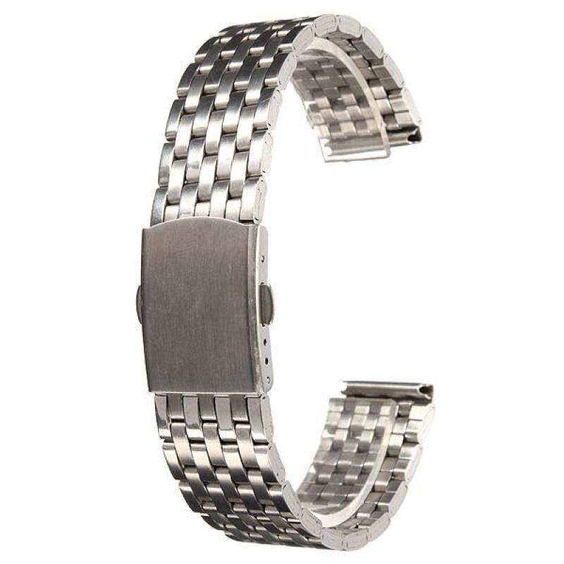 22mm Stainless Steel Watch Band Strap Bracelet & Push Button Double Flip Lock Malaysia