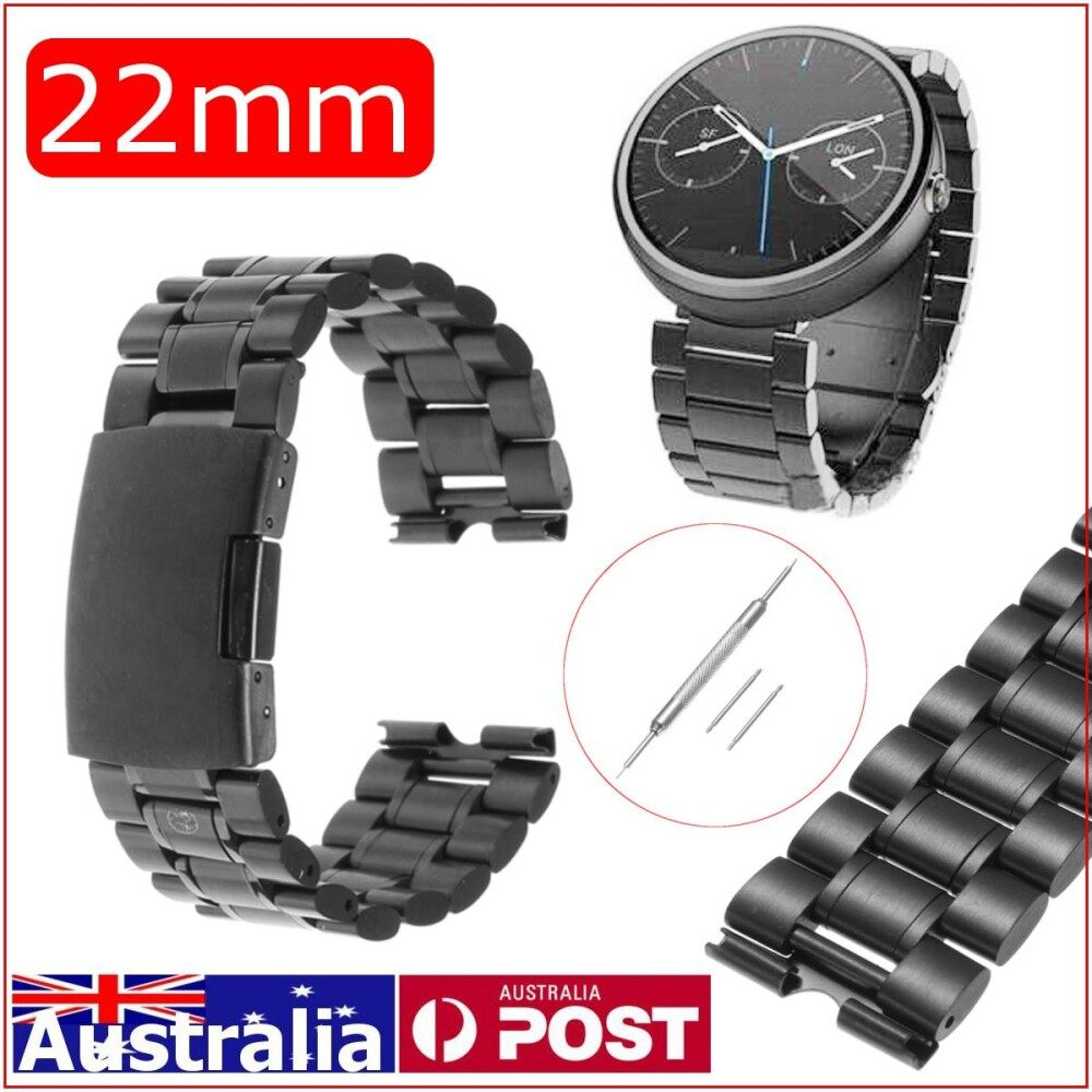 22mm Stainless Steel Watch Band Strap for Moto 360 1st Gen Smart Watch + Tools - intl