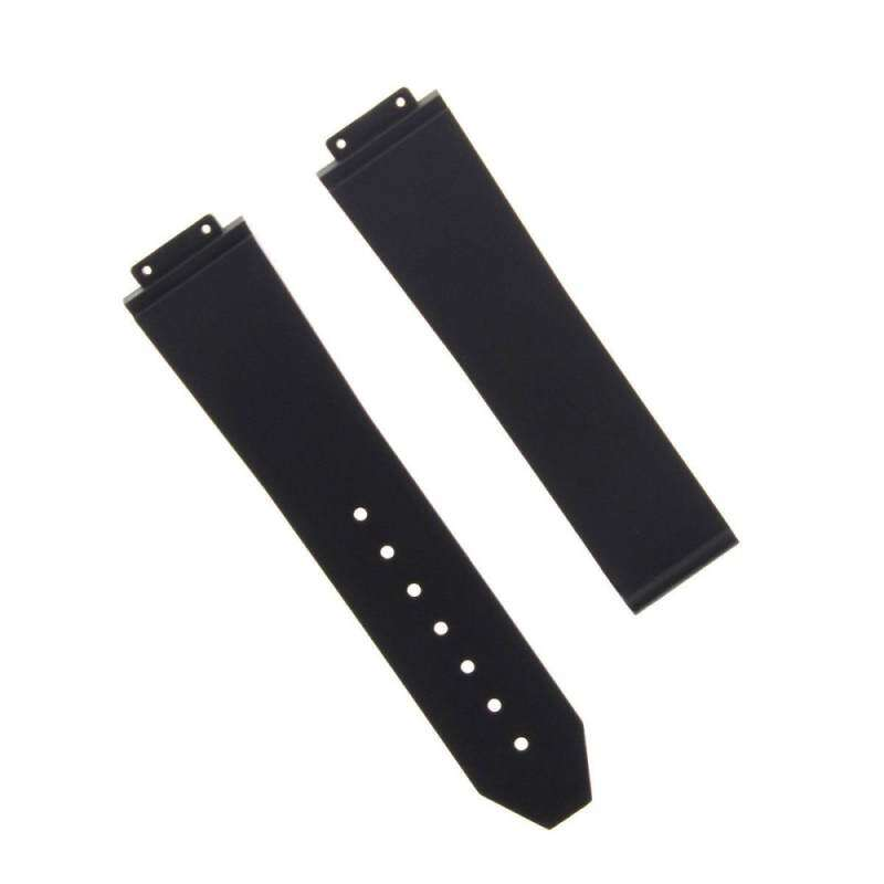 25MM rubber silicone watch starp band Black H for big hublot bang