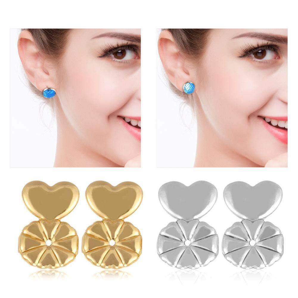 Price Compare 2Pairs Set Earrings Back Ear Stud Nut Lifters Lift Copper Ear Lobe Support Intl