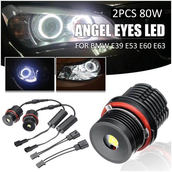 2 Cái 80W Mắt Thiên Thần Lỗi Miễn Phí LED Halo Vòng Bóng Đèn Cho BMW E39 E53 E60 E63-