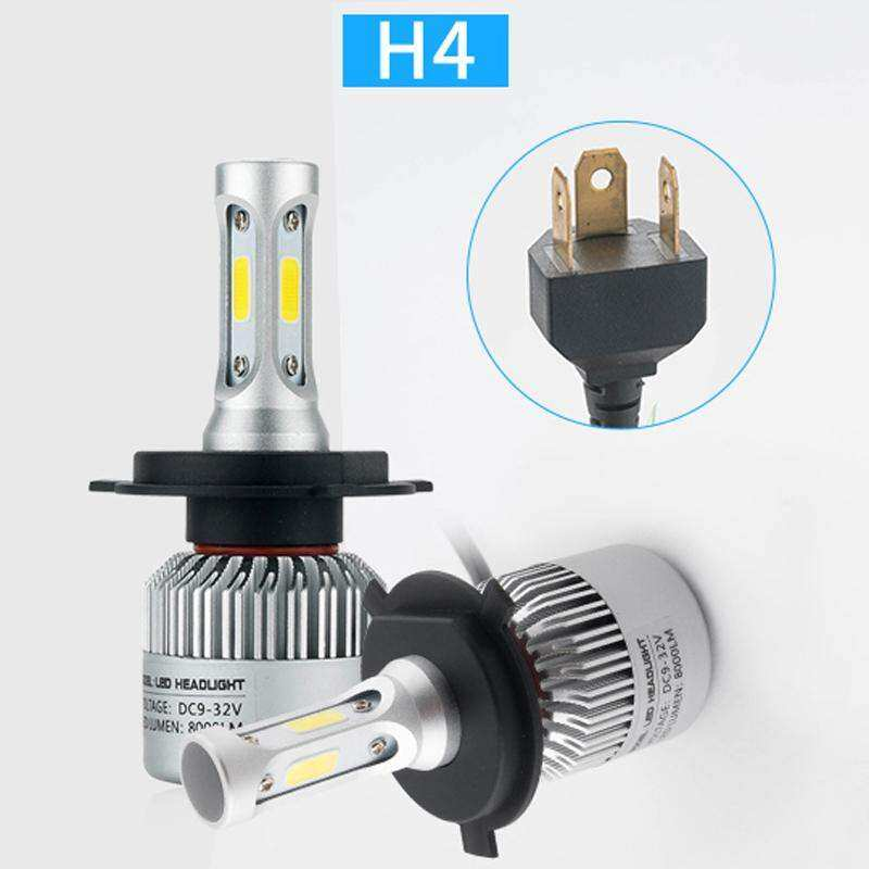 Rp 724.000. 2Pcs H4 LED H7 H11 H1 H3 9005 9006 COB S2 Auto Car Headlight 72W 8000LM ...