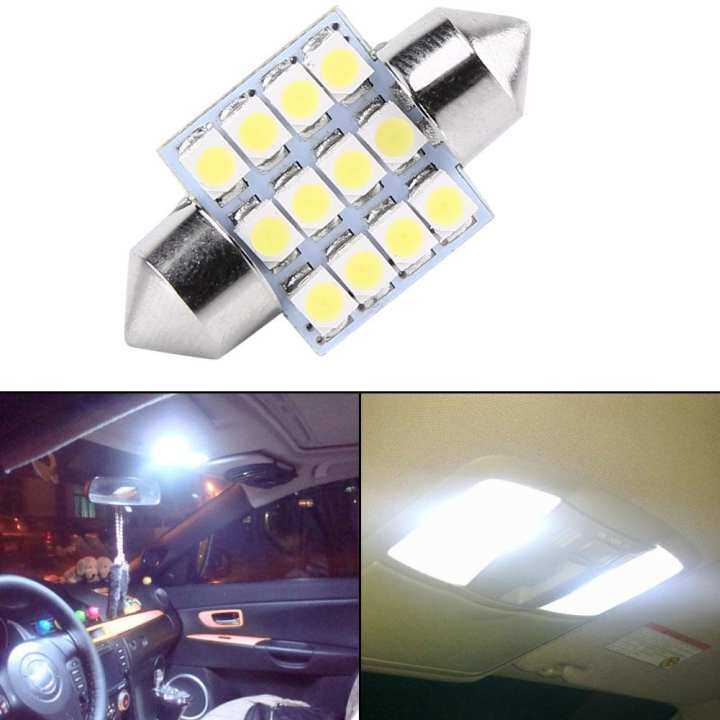 2pcs white 12v 12smd 31mm bulbs car interior lights door reading dome light lazada. Black Bedroom Furniture Sets. Home Design Ideas