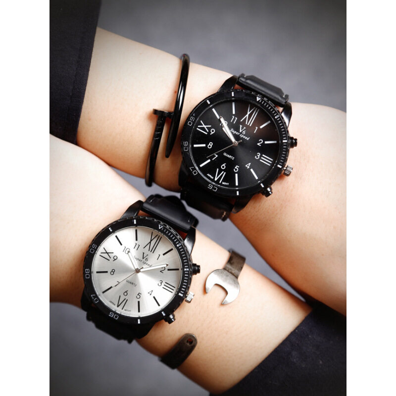 2pcs/lot Couple Lovers Watches Women Luxury Brand Big Dial Wristwatch Silicone Sport Men Watch Lady Quartz-Watch Valentines Day Gift Malaysia