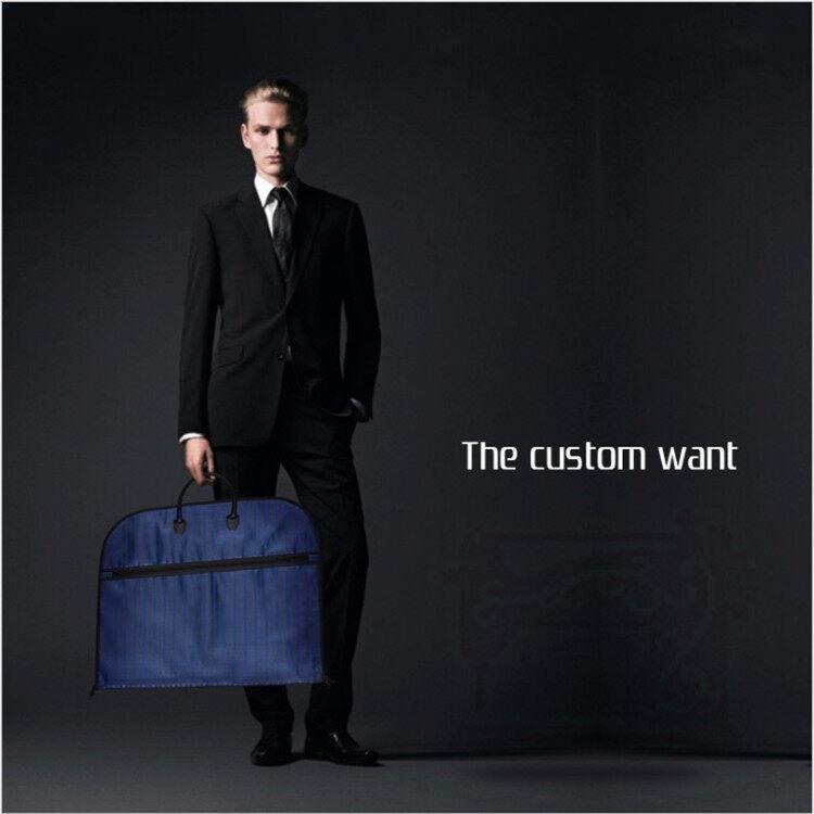 3 Colors Men Dustproof Hanger Coat Clothes Garment Suit Cover Storage Bags Clothes Storage Case Clothing Covers 1Pcs - intl