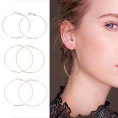 Free Shipping 3 Pairs Set Fashionable Lady Women Alloy Round Large Hoop Loop