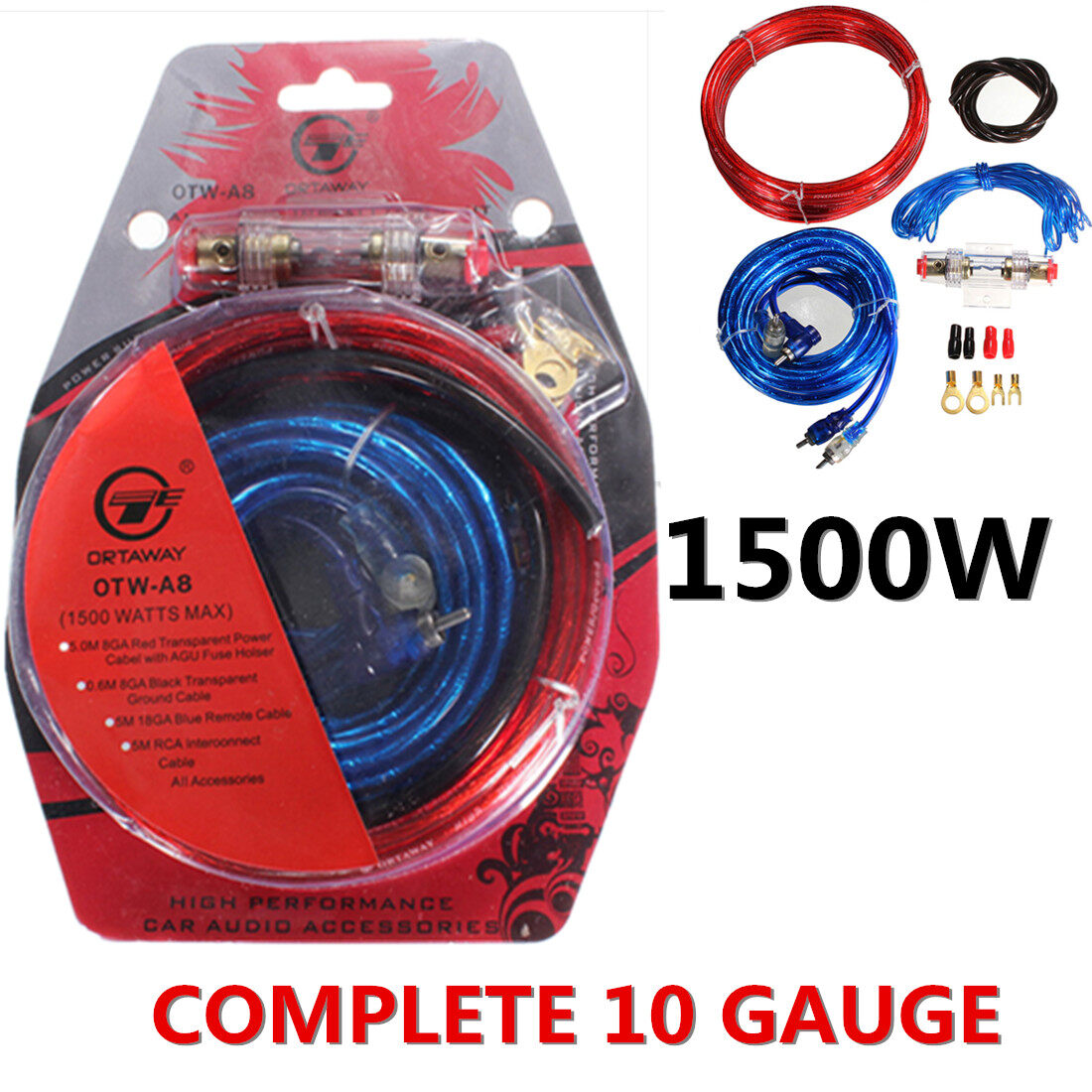 Buy Sell Cheapest 1500w 10 In Best Quality Product Deals Wiring Kits For Car Amps 3 Pcs Complete Gauge Amp Amplifier Cable Speaker Sub Subwoofer Kit