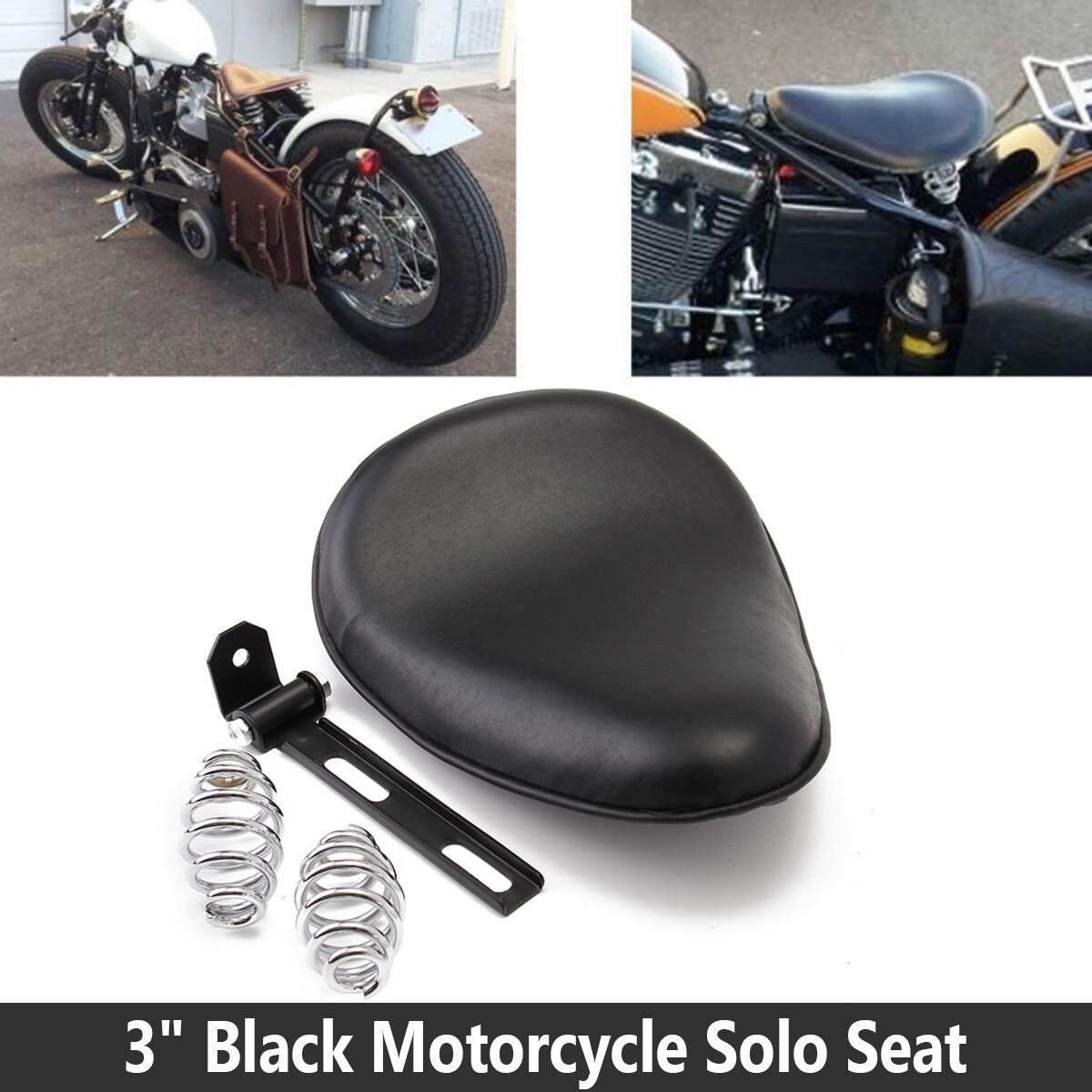 Motorcycle Black Diamond SOLO Driver Seat For Harley Sportster Bobber XL Custom