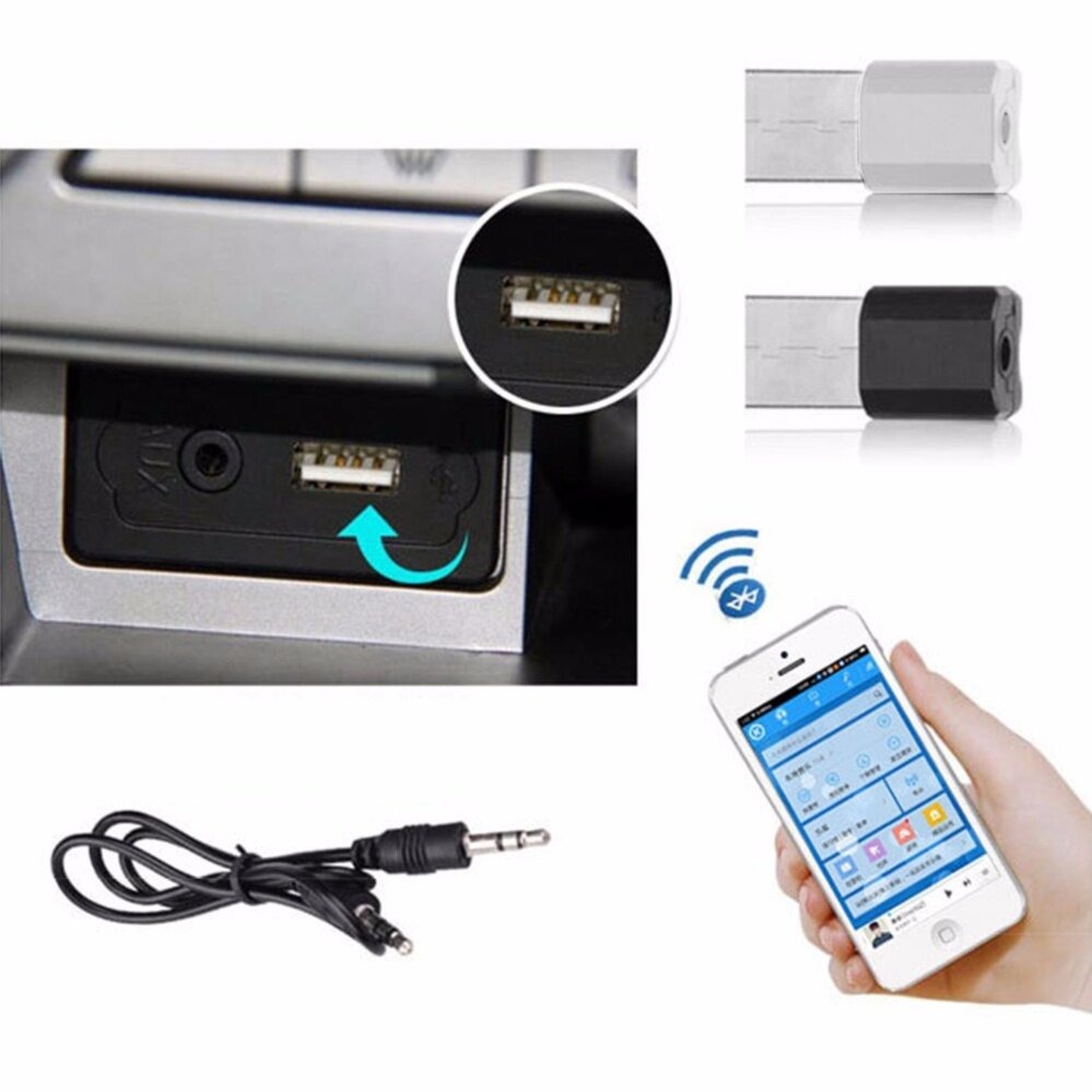 Rp 181.000 3.5Mm 5V Usb Wireless Bluetooth Audio Dongle Receiver Adapter For .