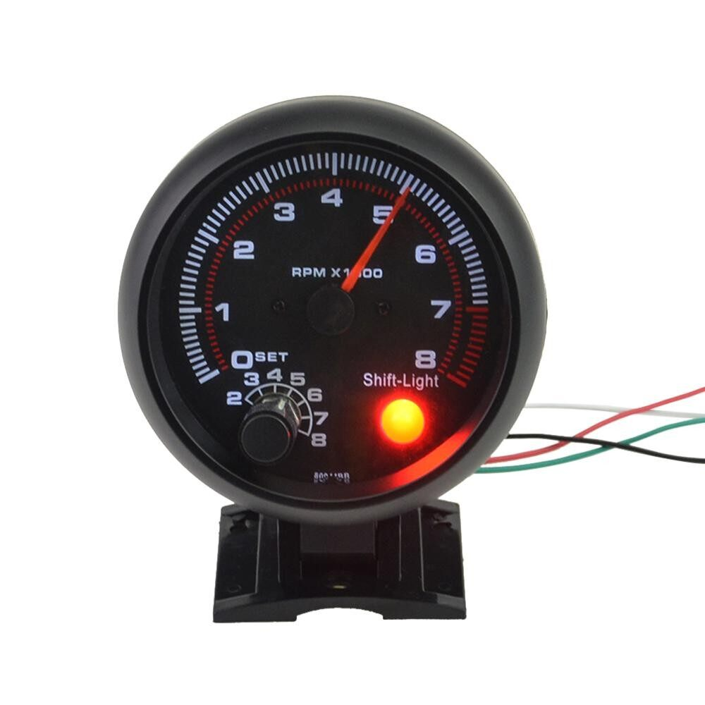 Car Gauges For Sale Fuel Online Brands Prices Reviews In Auto Gauge Rpm Wiring Diagram 375 Universal Black Tachometer White Inter Shift Light 0 8000