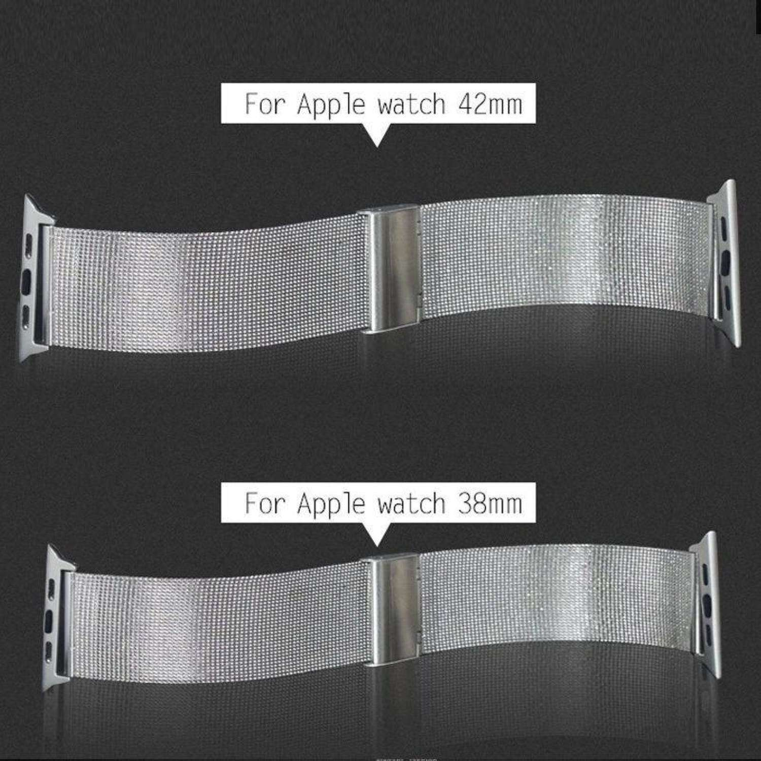 MYR 59 (Colour:Black) 1 PCS 38mm Stainless Steel Metal Replacement Wrist Bands Strap Bracelet For APPLE Watch ...
