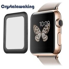 38mm Tempered Glass Screen Protector Full Coverage for Apple Watch Black Malaysia