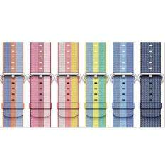 (Warna: Biru Tua) 1 Pcs 38 Mm Anyaman Nilon Pita Jam Tangan Apple