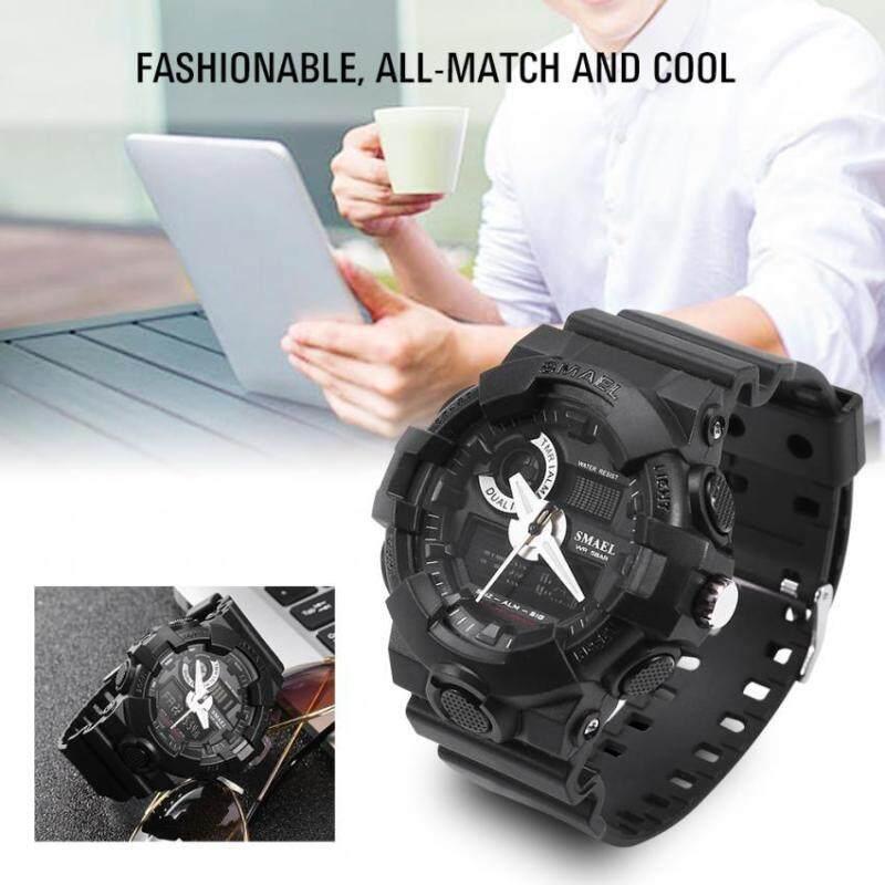 3Colors SMAEL Analog & Digital Dual Display Back Light Round Watch Wristwatch Malaysia